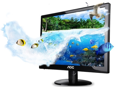Monitor LED 23 Aoc AOC e2352Phz 5ms LED 3D