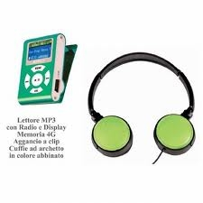 AUDIOLA 4840CF-GRE LETTORE MP3 4GB GREEN [4840CF-GRE]