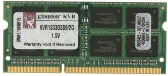 KINGSTON VALUERAM 2GB / 1333MHZ CL9 RAM SO-DIMM [KVR133D33S9/2G]